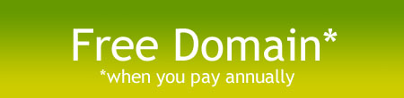 Free domain when you pay yearly